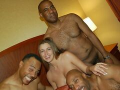 Pure interracial group sex